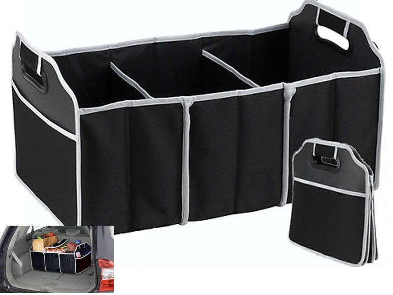 2-in-1 Car Boot Organiser Shopping Tidy Heavy Duty Collapsible Foldable Storage H5005(China (Mainland))