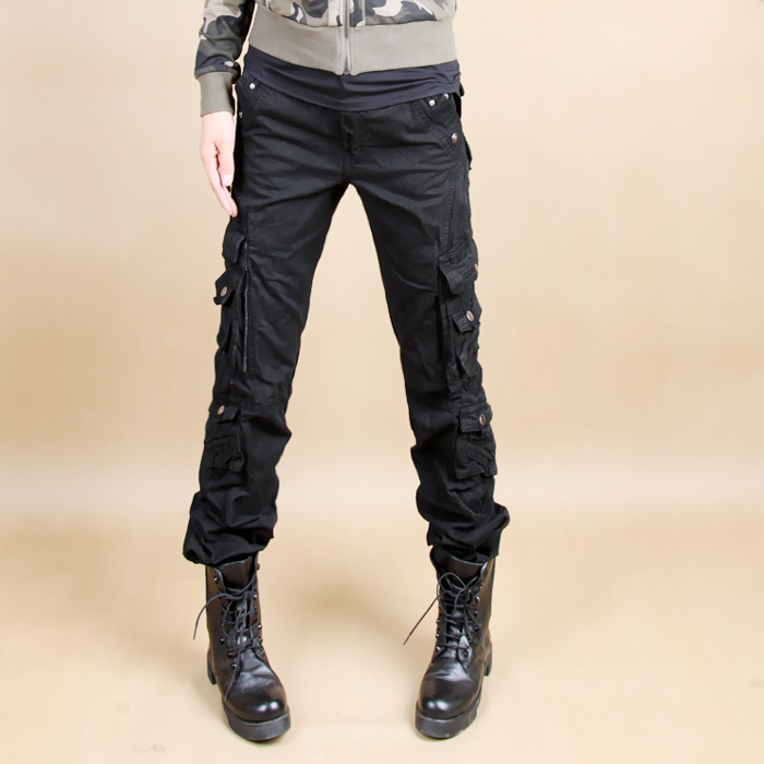 Cool Details About New Womens Ladies Black Wide Loose Combat Trousers Cargo