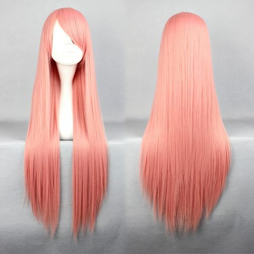 Гаджет  80cm Long Pandora Hearts-Charlotte Baskabiru Pink Cosplay Costume Wig None Волосы и аксессуары