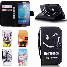 Buy Case Flip PU Leather Painted Phone Cases fundas Samsung Galaxy S4 S 4 GalaxyS4 I9500 I9505 I9506 I9515 GT-I9500 GT-I9505 GT< for $4.73 in AliExpress store