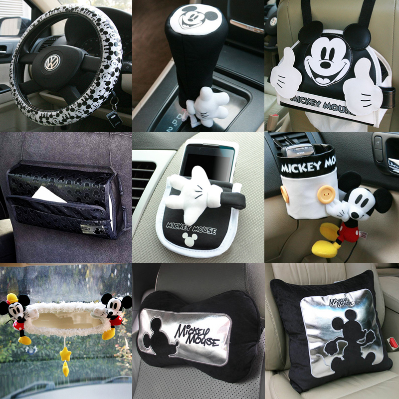 Genuine for mickey cartoon car interior decoration for Automobile decoration accessories