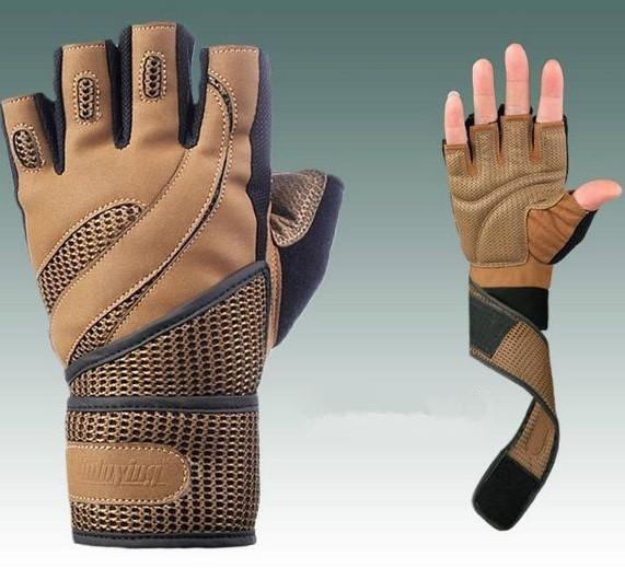 High quality Brand Professionals men fingerless gym workout sport gloves weight lifting gloves climbing black gloves(China (Mainland))