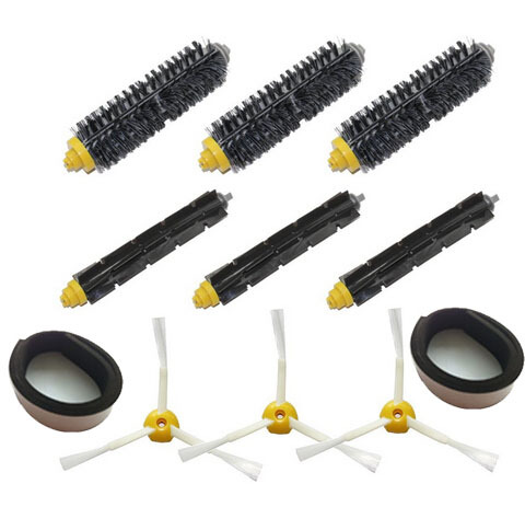 Brush Pack Kit for iRobot Roomba 500 600 700 Series (585 595 620 630 650 660 680 760 770 780 790) Vacuum Cleaning Robots(China (Mainland))