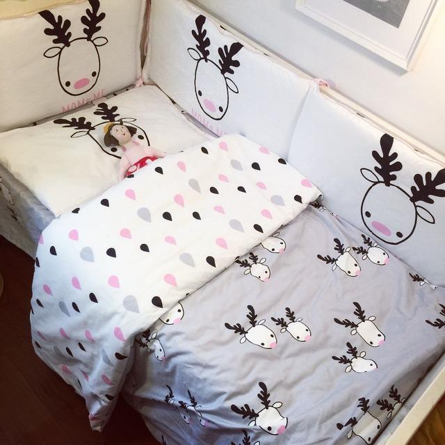 3 шт./компл. кроватки постельных принадлежностей 100% хлопок детское постельное белье ...
