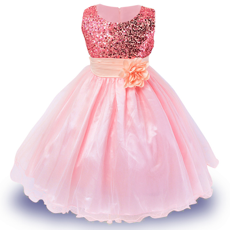 High quality Christmas Dress for girl 2-12 Years Ball Gown Pageant Girl Dress new year girl clothes Party Princess dress(China (Mainland))