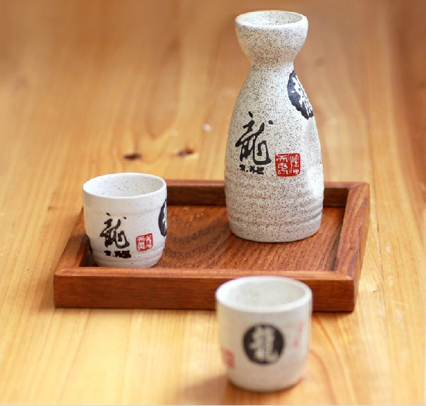 White wine japanese style clear jug japanese style ceramic set wine glass gift daily use(China (Mainland))