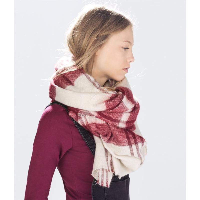 za major Winter Scarf Desigual Plaid Scarf cuadros New Designer Unisex Acrylic Basic Shawls Women's big size Scarves(China (Mainland))