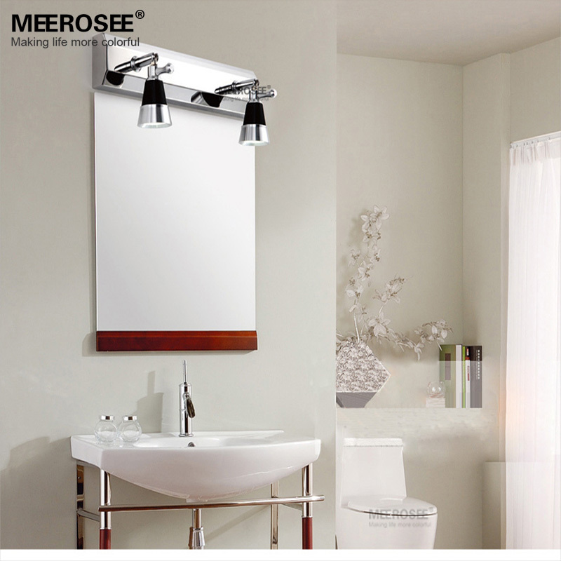 Фотография Mordern LED Bathroom wall lighting fixture LED Mirror lamp Chrome Metal wall sconces for Restroom Bedroom 11.8inch LED wall lamp