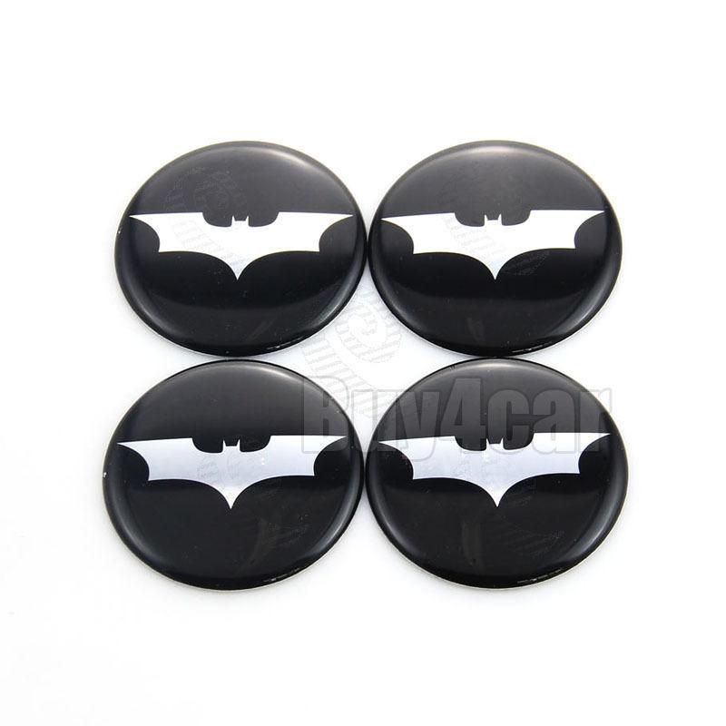 4X Car Accessories Ornament Wheel Center Batman Emblem Hub Cap Stickers 50mm(China (Mainland))