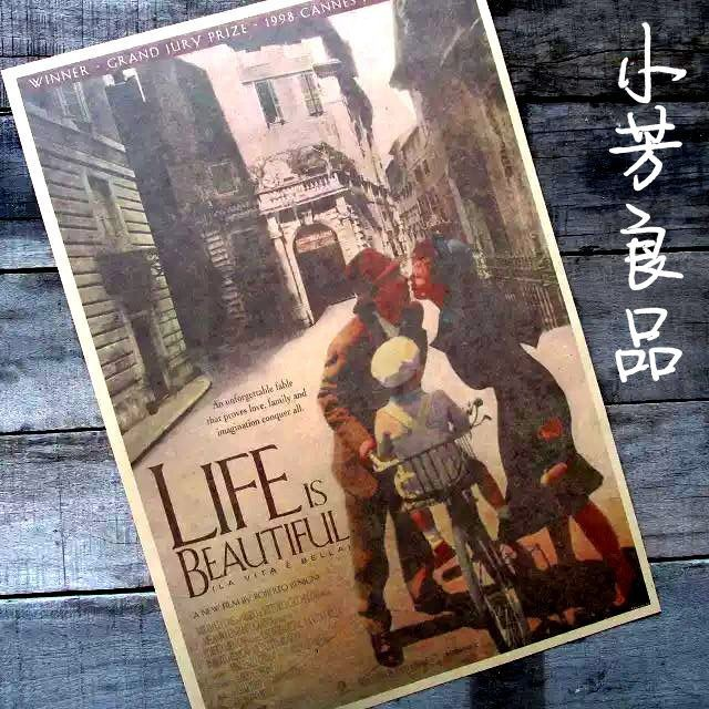 "Vintage Retro Paper Poster, LIFE IS BEAUTIFUL, MOVIE FILM, 16"" x 11"", Christmas Gift 42*30cm(China (Mainland))"
