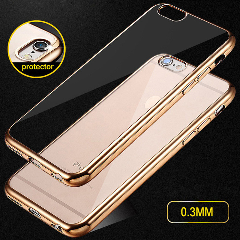 Luxury Ultra thin Plating Silicon TPU Soft Cover font b Case b font For font b