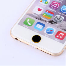 Top Quality Attractive  Metal Aluminum Home Button Keypad Sticker For iPhone 5 5S Wholesale Free Shipping(China (Mainland))