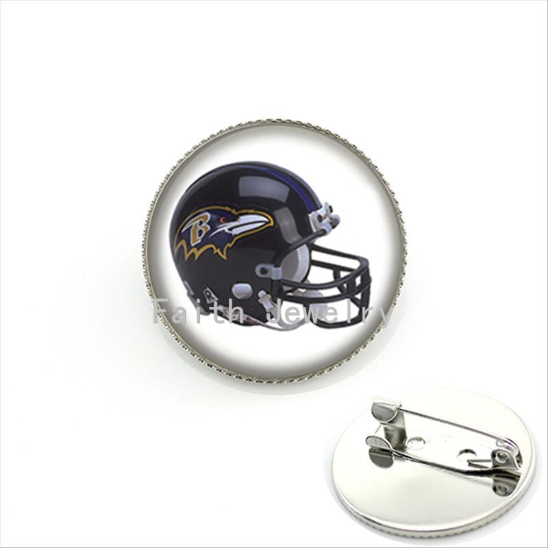 New arrival american football sport helmet image brooches cool boyfriend gifts case for Baltimore Ravens team brooch pins NF163(China (Mainland))