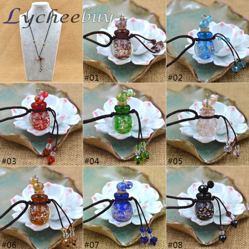 Light in the Dark Coloured Glaze Essence Oil Fragrance Pendant Necklace Car Diffuser Perfume Refill Gift(China (Mainland))