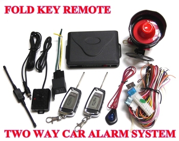 12v Universal Two Way Car Alarm & auto security System HL-C020 with 2 LCD Folding Key Remoter 1000M long distance Free shipping