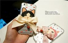 "Lovely – a small cat series case for iPhone 6 6s / 6 Plus / 6s plus Classic fashion, Bling ""bell the cat"" mobile phone case"