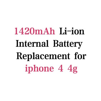 1420mAh 3.7V Lithium polymer Battery For iphone 4 4G Battery mobile phone Batterie Batterij Bateria