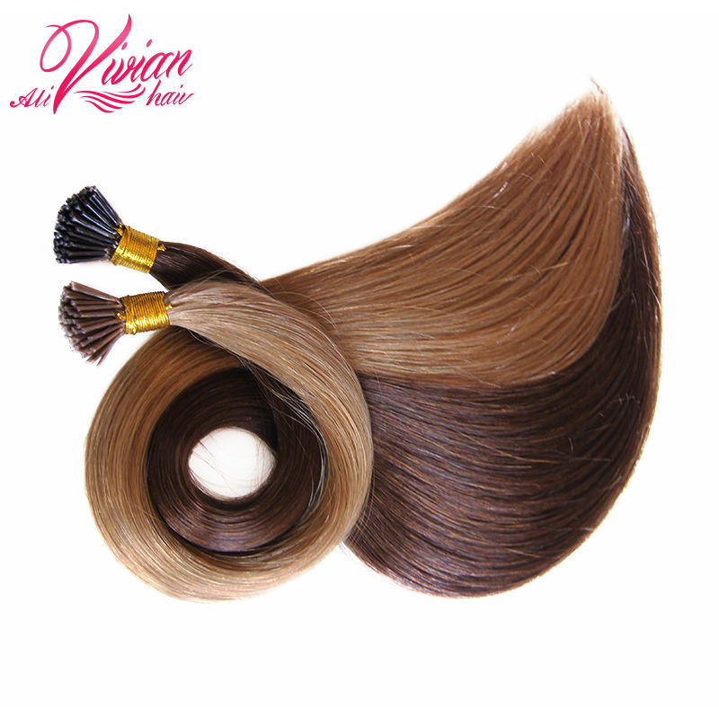 Fusion Hair Extensions Brazilian Virgin Hair Straight I tip Human Hair Extensions Pre bonded hair extensions I Tip Extensions(China (Mainland))