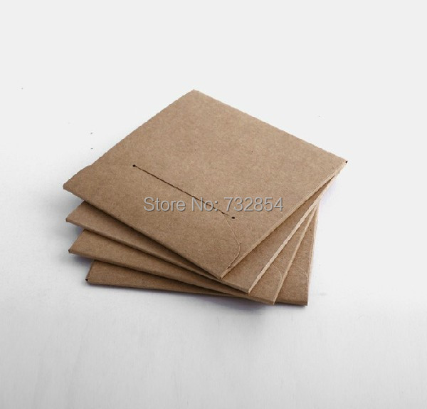 FREE SHIPPING 10 PCs Quality Kraft Paper CD DVD Case Sleeve CD Bag Holder Cover(China (Mainland))