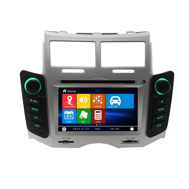 Free Shipping + Free Map Car DVD Player GPS Navigation Navi For Toyota Yaris 2005 to 2011 Bluetooth Ipod TV in Silver Color(China (Mainland))