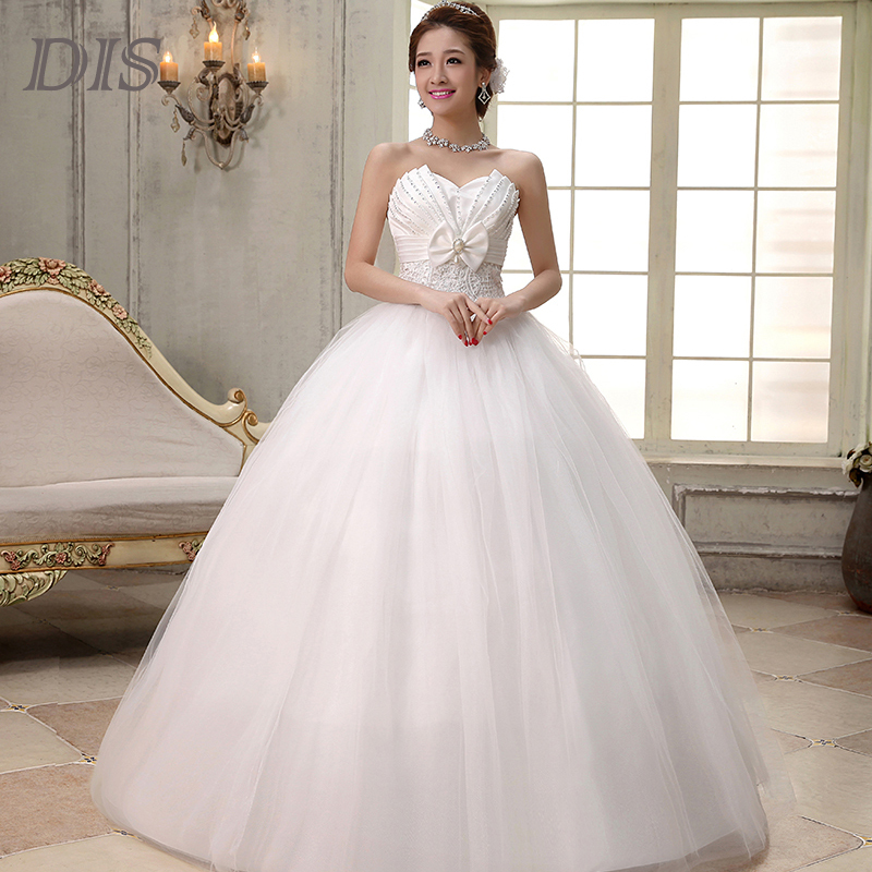 Cheap Princess Sweetheart Wedding Dress 2015 Plus Size Romantic Bride Gown Ch