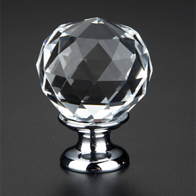 1pcs K9 Clear Crystal Round Knob Furniture Knobs Kitchen Glass Drawer Cabinets Handles Drawer Pulls Closet Decoration Handles(China (Mainland))