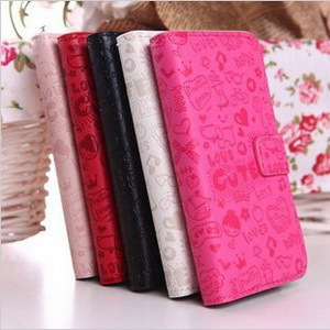 1 Piece New Magic Girl Flip Cartoon Leather Case for Huawei Ascend G510 U8951D T8951Free Shipping(China (Mainland))
