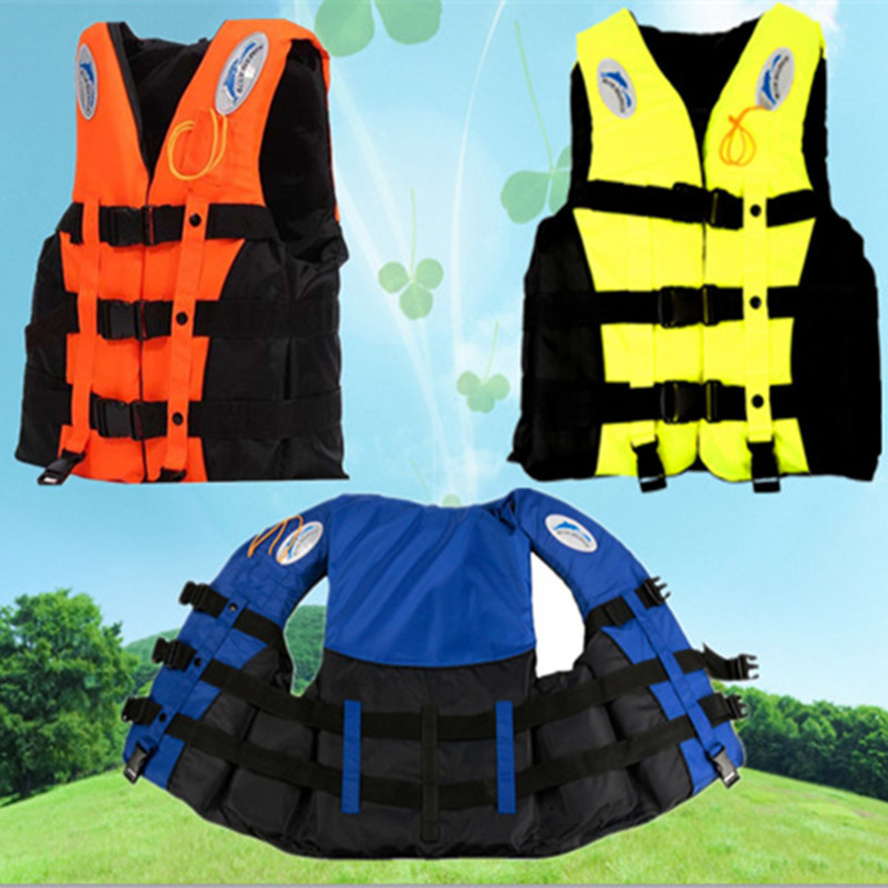 Professional Swimwear Polyester Adult Life Jacket Foam Vest with Whistle Survival Suit for Swimming Drifting Surfing S-XXXL L429(China (Mainland))