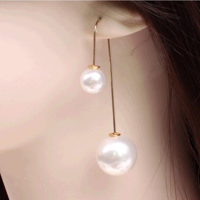 Новый горячий мода ювелирных украшений летний стиль двойной перл п-образный 19 цветов ...