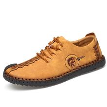 古典的な快適なローファー男性の靴の品質分割レザーシューズ男性フラッツホット販売モカシン靴プラスサイズ(China)