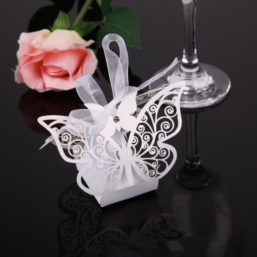 50x laser cut wedding baby shower favors and gifts supplies butterfly
