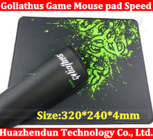 Hot sale Size:320*240*4mm Goliathus Mouse pad 50pcs/lot Speed\control version Anti-Slip Gaming Mouse Pad Free Shipping(China (Mainland))