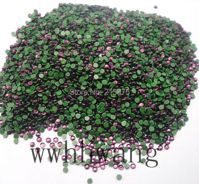 Free shipping SS6 2mm B Grade Hotfix Crystals Rhinestone Beads Dark purple 1440pcs/bag Garment Accessories(China (Mainland))