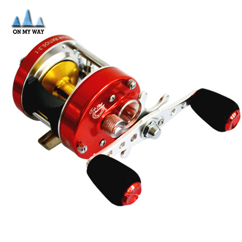 HOT Sale 6+1BB Saltwater Sea Fishing Reels Bait Casting cast Drum wheel Drum saltwater fishing Reel Baitcasting(China (Mainland))