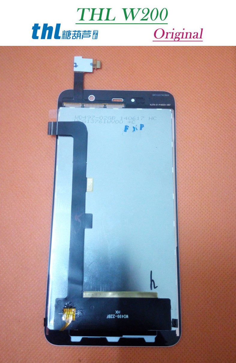 100% Original New THL W200 W200S HD LCD Display +Digitizer Touch Screen Glass White/Black