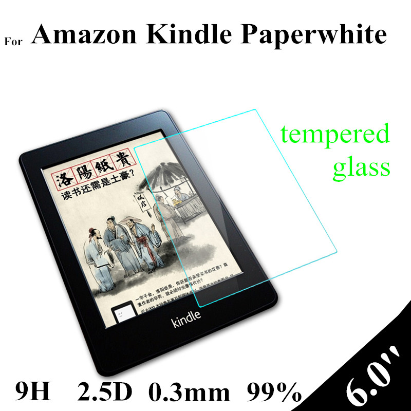 6.0 inch Paperwhite Tempered Glass Protector For Amazon Kindle Paperwhite Touch Ebook Glass Screen Protector(China (Mainland))