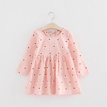 Buy Baby Girls Dresses New Fashion Summer Girls Kawaii Dress Long Sleeve Kids Clothes Cotton Flowers Children Clothing Costume for $5.54 in AliExpress store