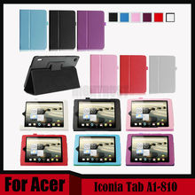 3 in 1 Litchi Pu leather stand case cover For Acer Iconia Tab A1-810  tablet for Acer Tab A1 810 + Stylus + Screen Film