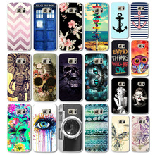 Case for Samsung Galaxy S6 Phone Cases Cover Cute Animal Colorful Retro Cartoon Plastic Flip marilyn monroe