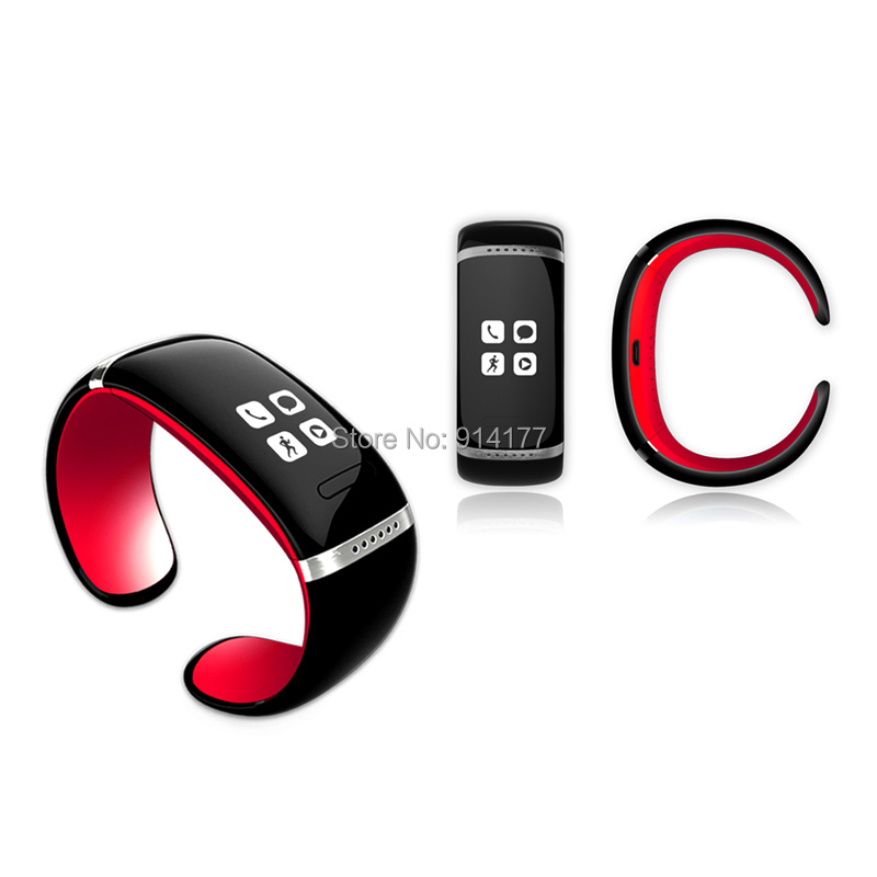 New ! Smart Bracelet Bluetooth Watch Touch Screen Caller ID OLED Display SMS Pedometer Music Player For iPhone Smart phone (RED)<br><br>Aliexpress