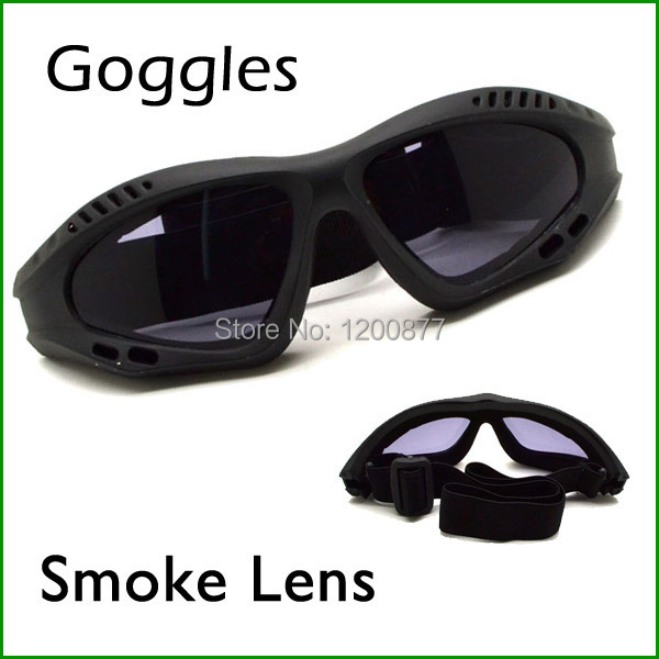 Outdoor Motorcycle Goggles Windproof Glasses Safety Sport Glass Smoke Lens(China (Mainland))