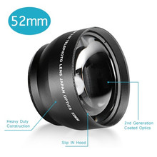 Buy New 52MM 2.2X Macro Lens Wide Angle HD 52mm Filter Thread Lens Canon Nikon Sony Pentax Olympus Camera for $13.16 in AliExpress store