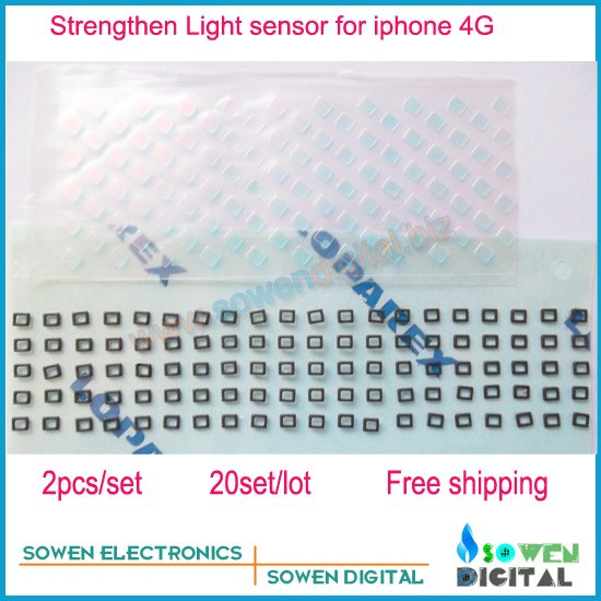 for iphone 4 4g Strengthen Light sensor slice piece,for power flex sensor flex cable