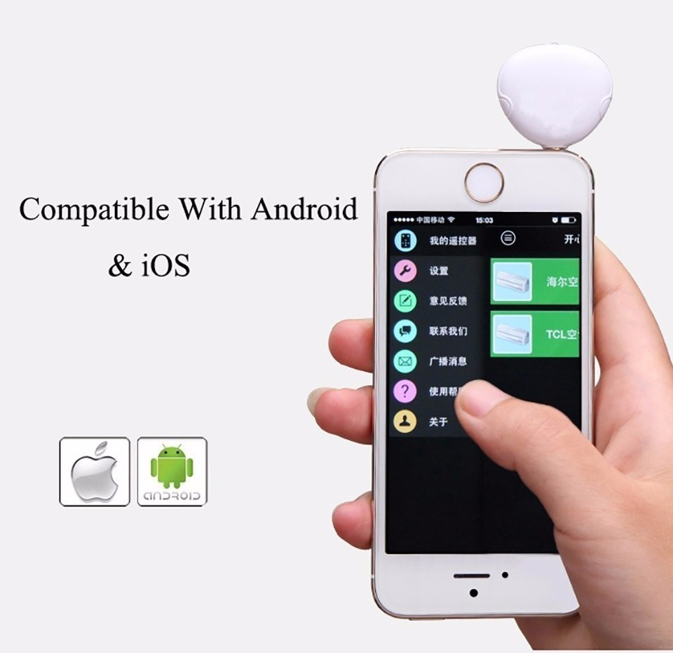 3.5mm Audio Intelligent Mobile Smart Infrared Universal Wireless Ir Remote Control for Tv Projector Air Conditioner(China (Mainland))