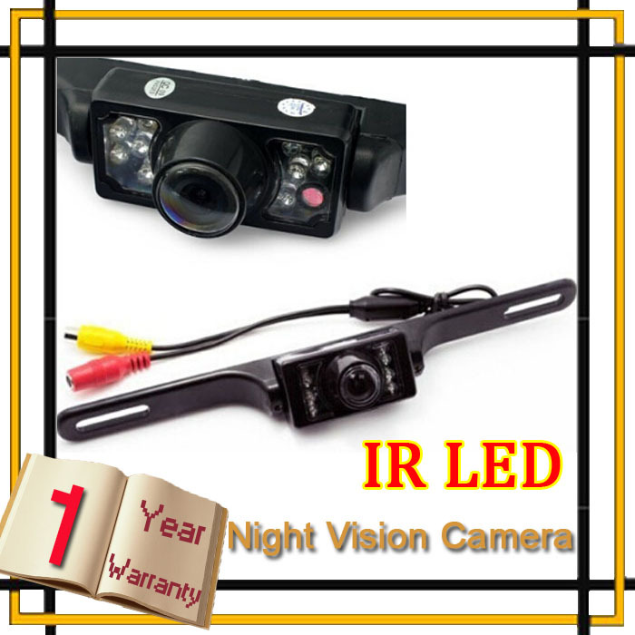 Parking System License Plate Car Reversing Cam Back Up Parking IR LEDS infrared Night Vision Rear View Camera,Free Shipping(China (Mainland))