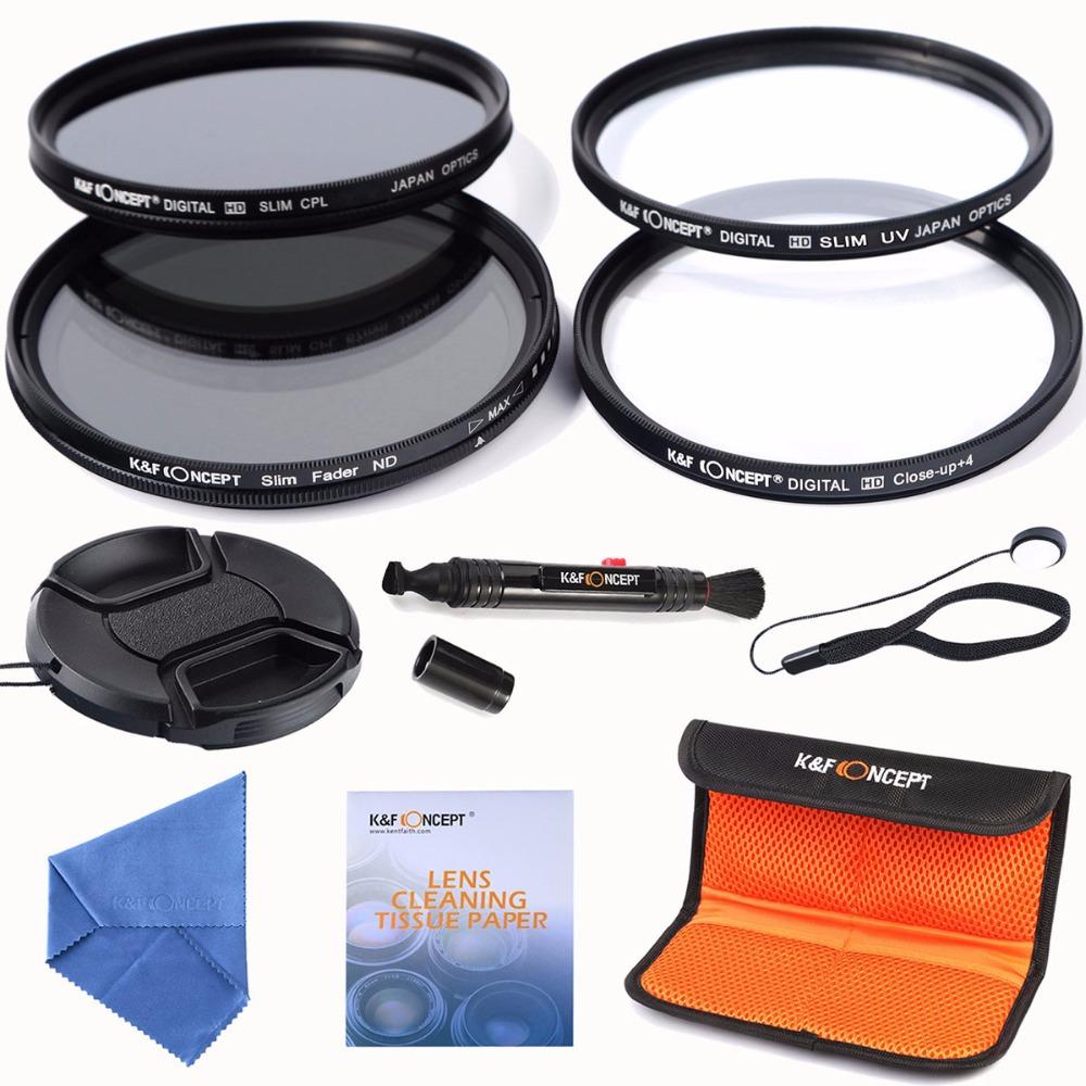 67mm slim UV CPL+ Slim Adjustable ND+Macro Close Up+4 Lenses Filter Kits for for Canon Nikon Sony DSLR Camera Lens(China (Mainland))
