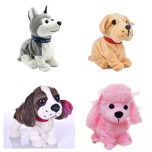 New Electronic Toys High Quality Funny Sound Control Electronic Pet Toys Plush Dog Gift Toys For Children Birthday Gifts(China (Mainland))