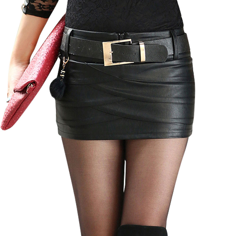 Online Buy Wholesale black mini skirt belt leather from China ...