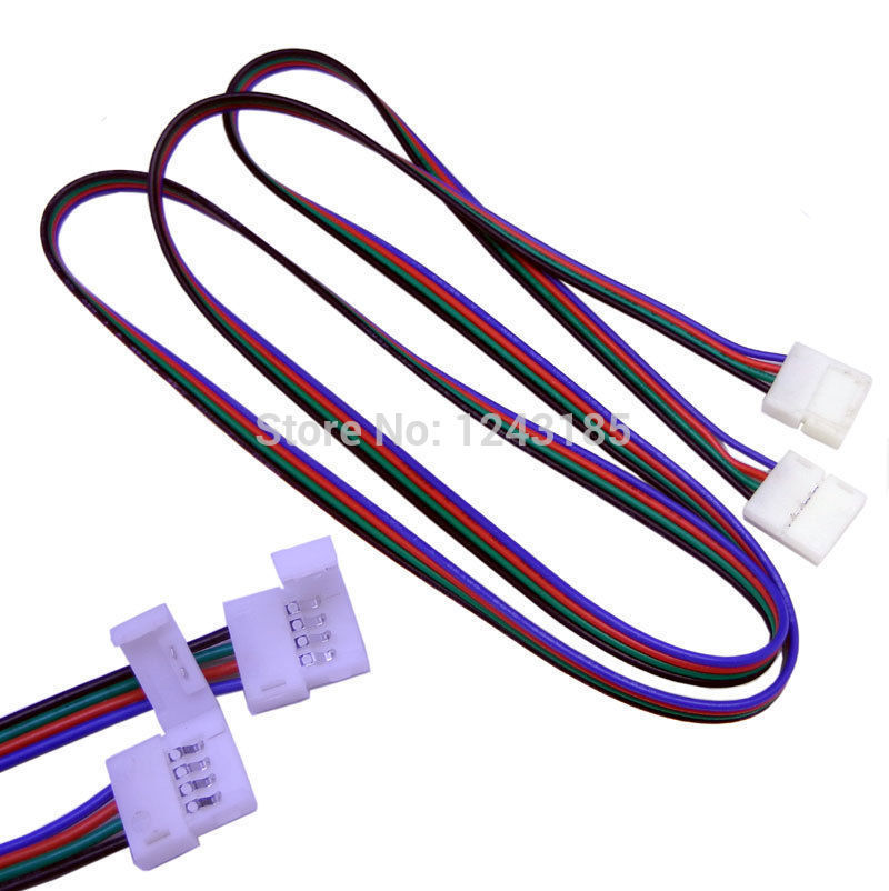 1m LED RGB cable wire extension cord for LED 5050 RGB Strip connector(China (Mainland))