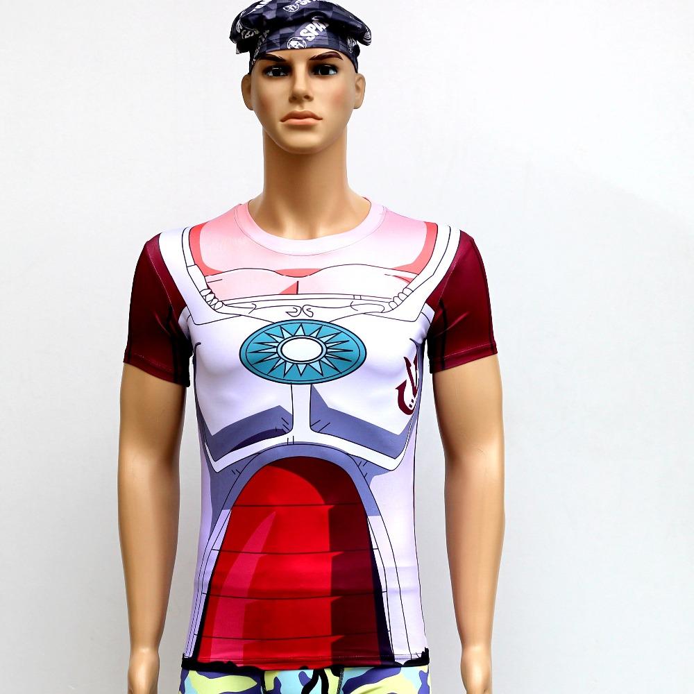 2016 New Dragon Ball t Shirt Men Armor 3d T-shirt Printed Compression Shirt Tops Fitness Tight Sports Tee Shirt Homme S - 4 xl(China (Mainland))